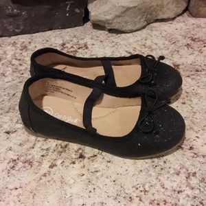 Toddler girl sz 9 Cat & Jack Blk glitter shoes
